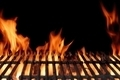 Empty Hot Flaming Charcoal Barbecue Grill - PhotoDune Item for Sale