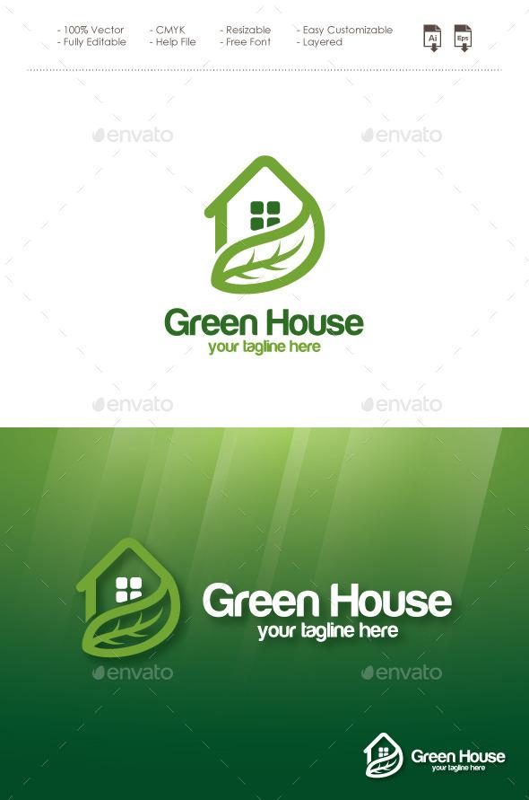 GraphicRiver Green House Logo 11560935