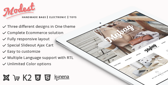 ThemeForest Modest Multipurpose Joomla Virtuemart Theme 11637912