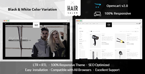 ThemeForest Hair Salon Opencart Responsive Theme 11637971