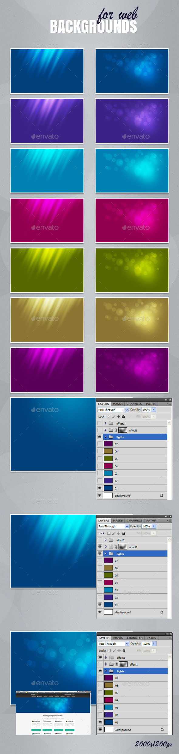 GraphicRiver Backgrounds for web 11638349