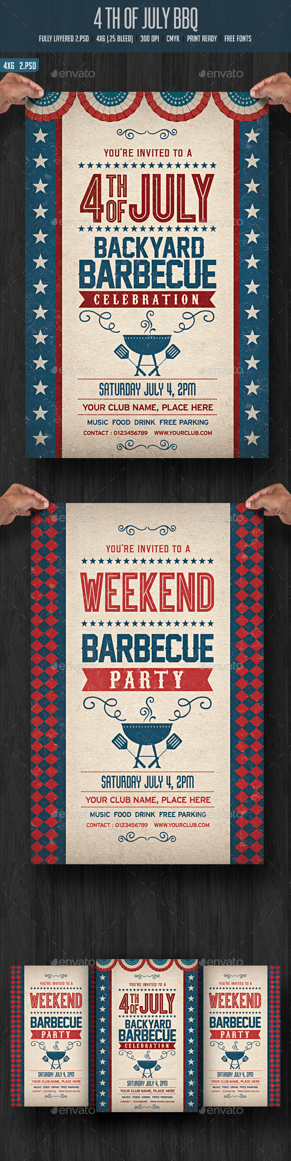 GraphicRiver 4th July BBQ Flyer 11638473
