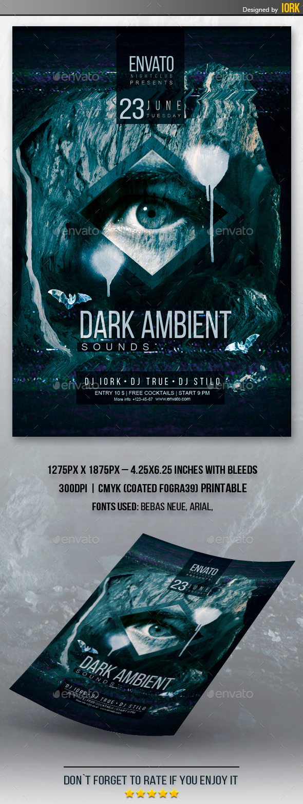 GraphicRiver Dark Ambient Flyer 11639052