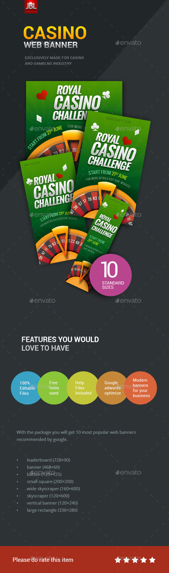 GraphicRiver Casino Web Banner Package 01 11639224