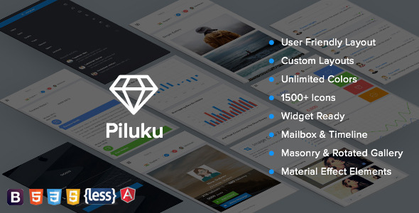 ThemeForest Piluku AngularJS Admin Template 11511932