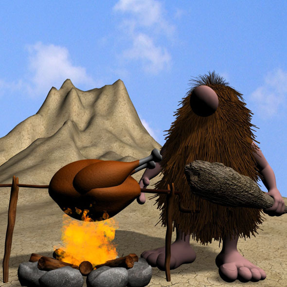 3DOcean Cartoon Caveman Character Rigged 11639762