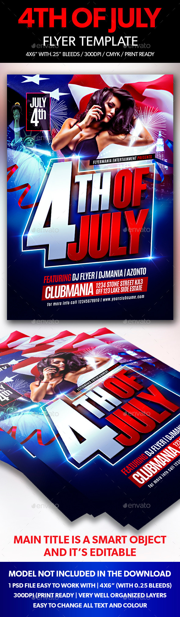 GraphicRiver 4th of July Flyer Template 11640282