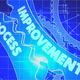 Improvement Process Concept. Blueprint of Gears. - PhotoDune Item for Sale