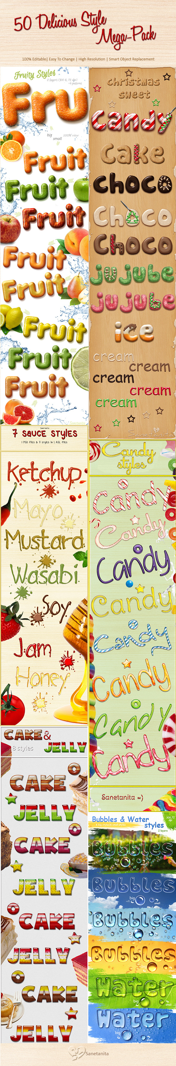 GraphicRiver 50 Delicious Style Mega-Pack 11640743