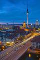 Berlin Alexanderplatz at night