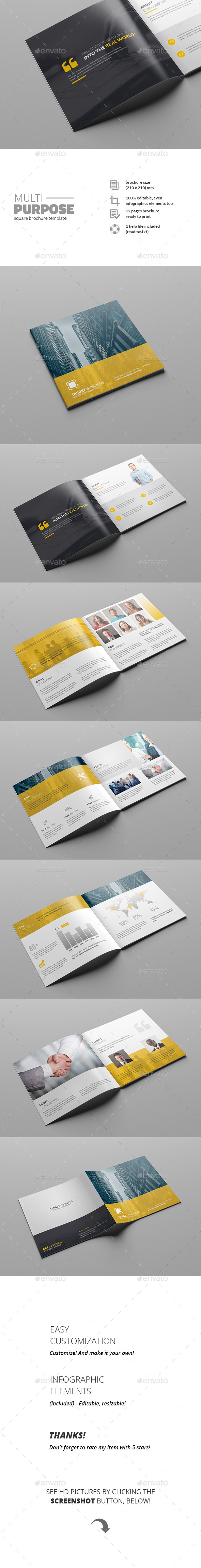 GraphicRiver Multipurpose Square Brochure 11641822