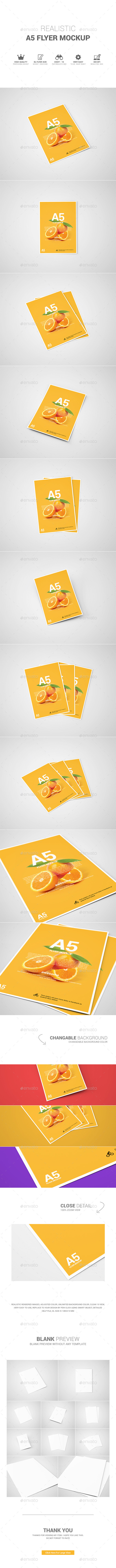 GraphicRiver A5 Flyer Mockup 11641925