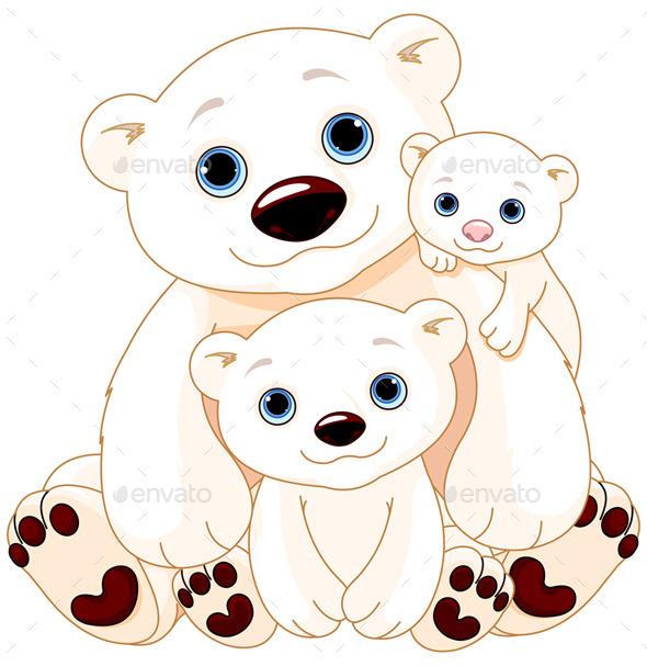 GraphicRiver Polar Bear Family 11642131