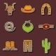 Set Of Hand Drawn Rodeo Stickers - GraphicRiver Item for Sale