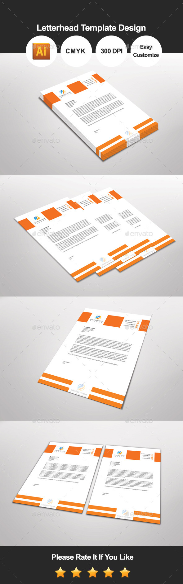 GraphicRiver Orandian Letterhead Template Design 11642415