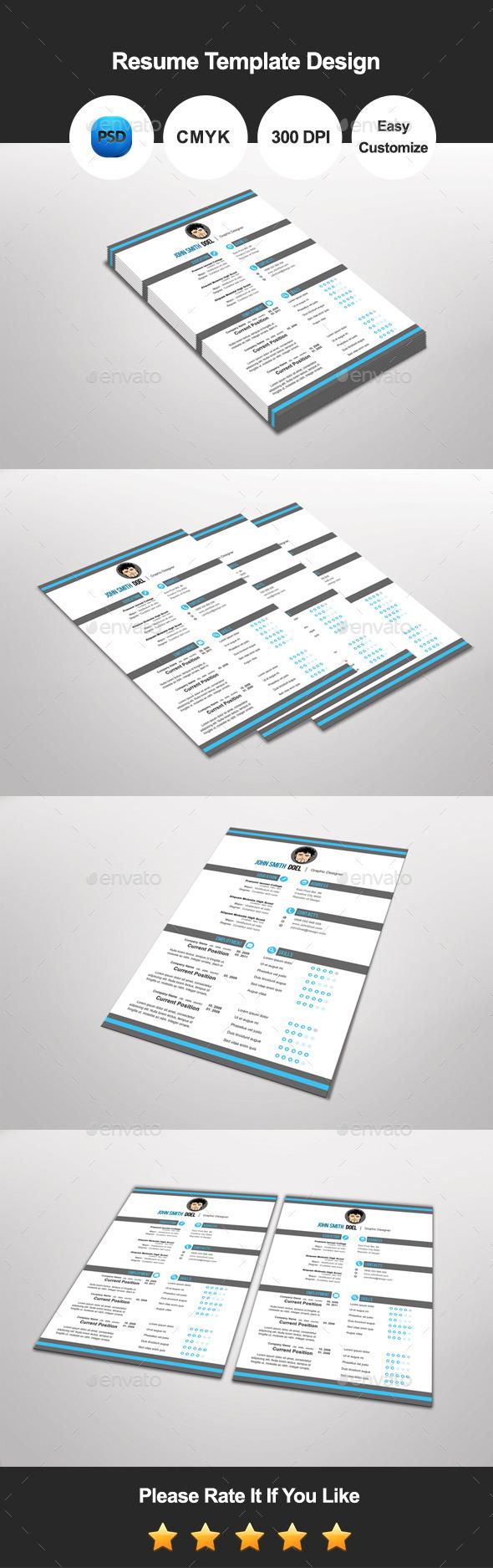 GraphicRiver Prematic Resume Template Design 11642433