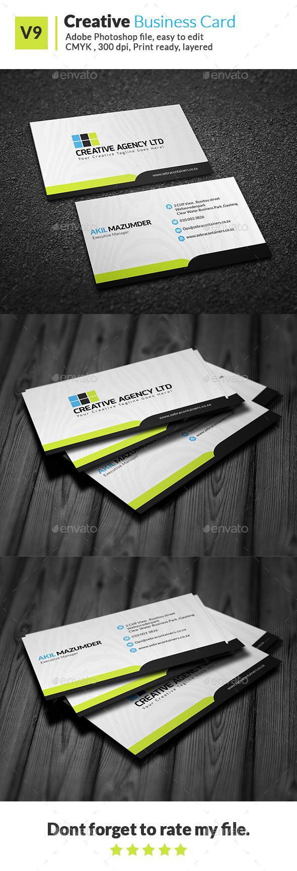 GraphicRiver Creative Business Card V9 11642434