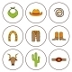 Set Of Hand Drawn Rodeo Icons - GraphicRiver Item for Sale