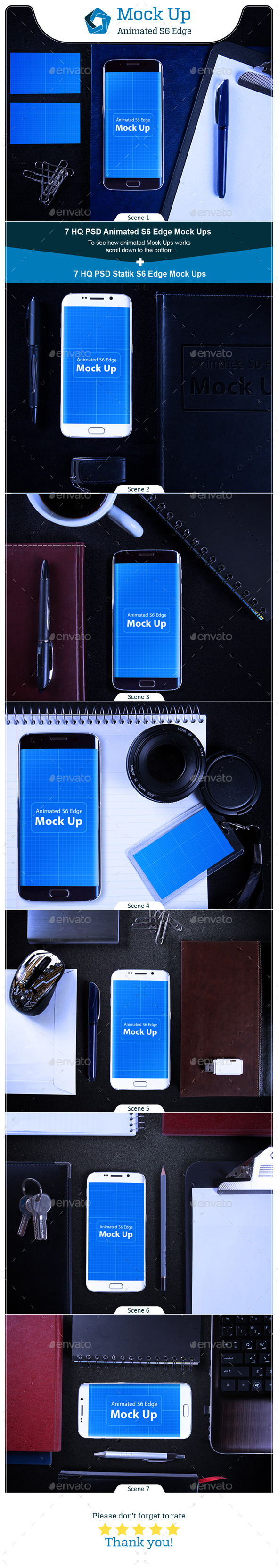 GraphicRiver Animated S6 Edge MockUp V.2 11642863