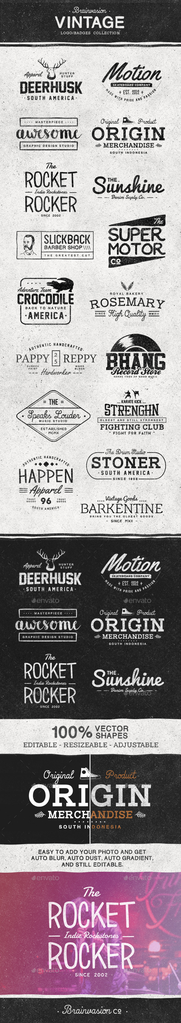 GraphicRiver Vintage Logo Badge Collection 11643037