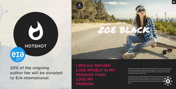 20. HotShot - Self Promotion HTML Template
