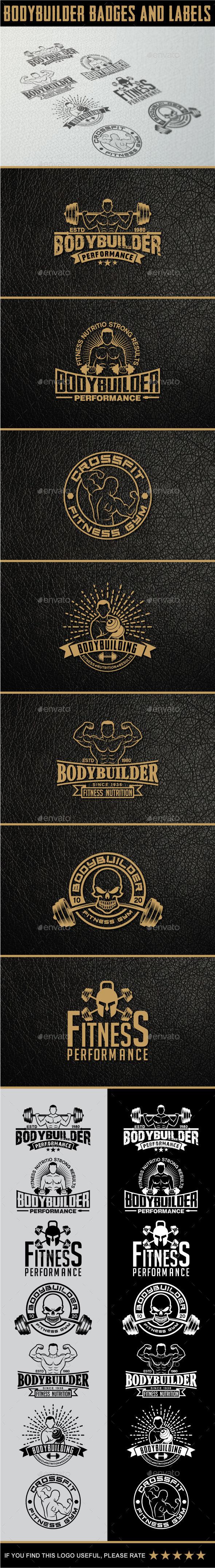 GraphicRiver Bodybuilding Labels & Badges 11643515