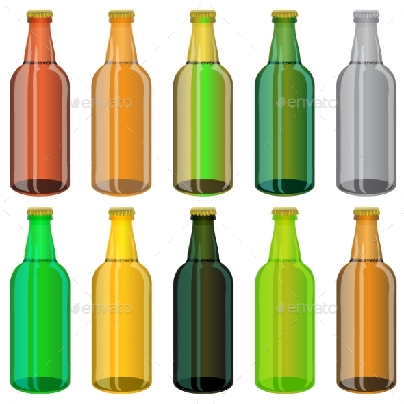 GraphicRiver Set of Colorful Beer Glass Bottles 11643887