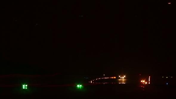 VideoHive Night Departing Take-off 11643931