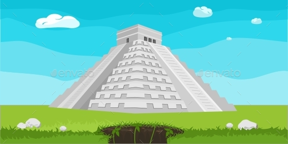 GraphicRiver Mayan Pyramid Illustration 11644196