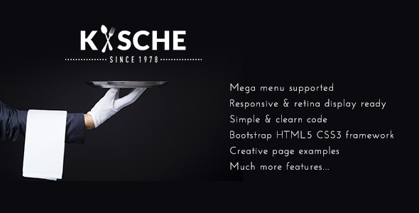 ThemeForest Kische Restaurant Cafe Responsive Site Template 11644567