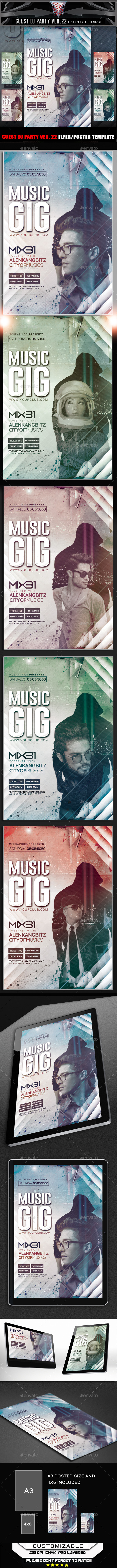GraphicRiver Guest DJ Party Ver 22 Flyer Template 11584077
