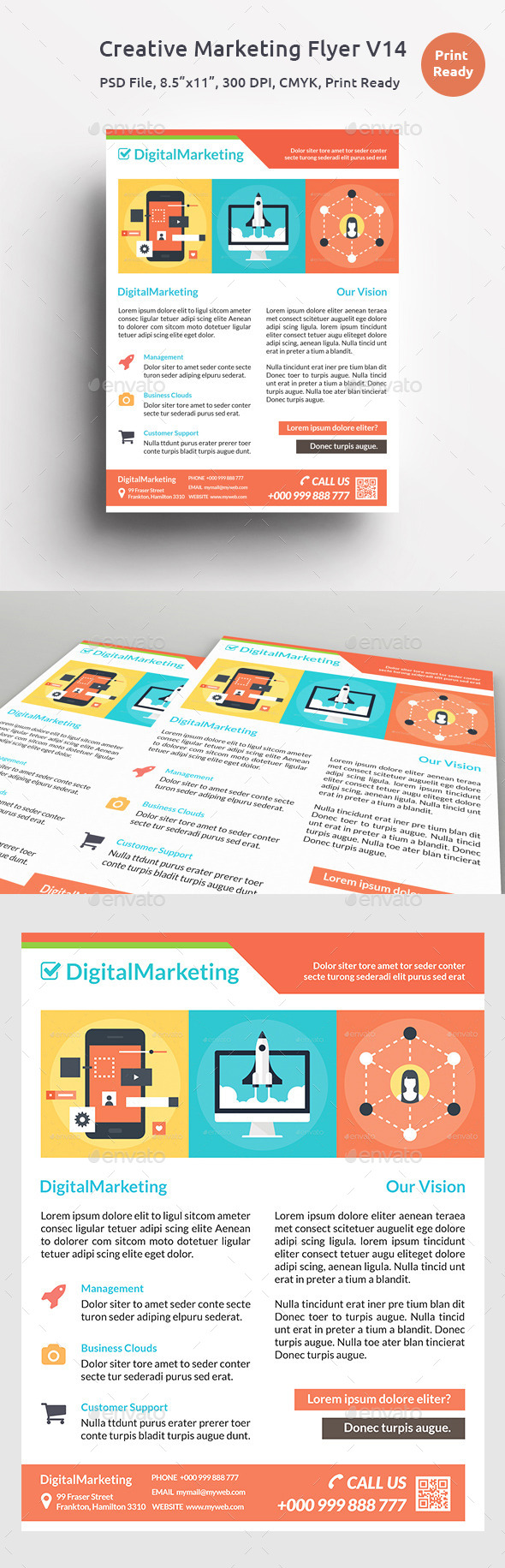 GraphicRiver Creative Marketing Flyer V14 11644685