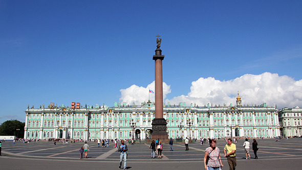 Hermitage And Palace Square In St Petersburg