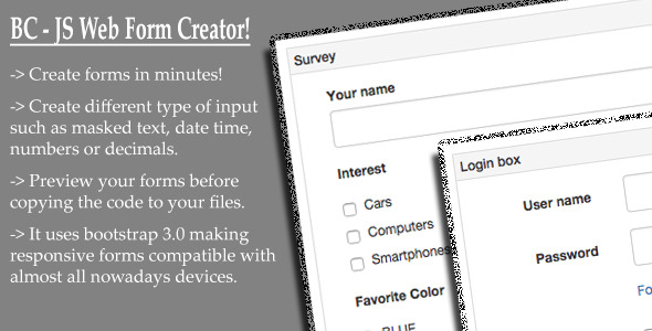 BC JS Web Form Creator - CodeCanyon Item for Sale