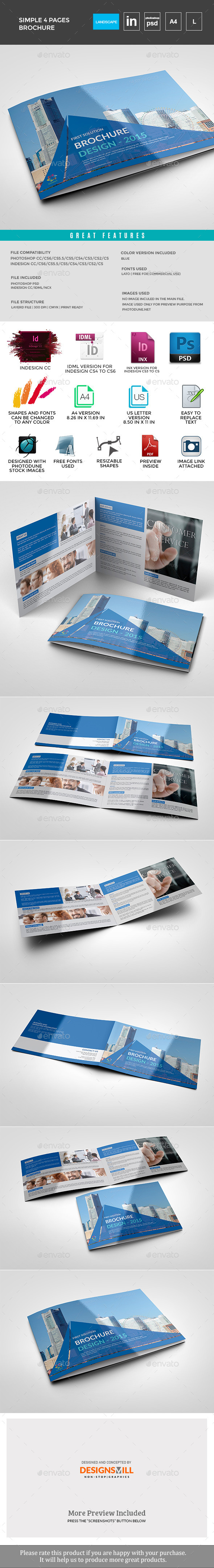 GraphicRiver 4page Business Landscape Brochure 11645006