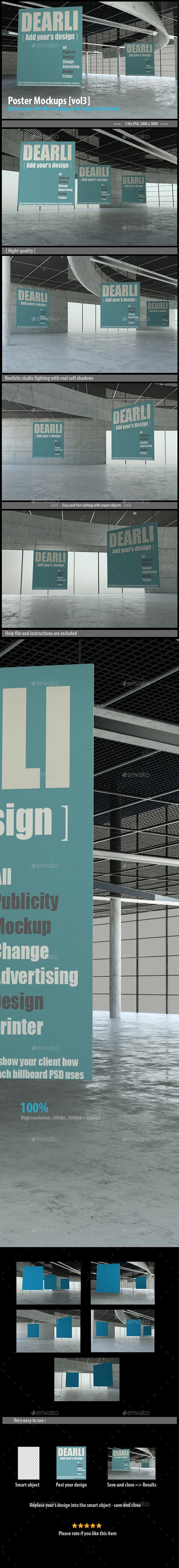 GraphicRiver Poster Mockups [vol3] 11645012
