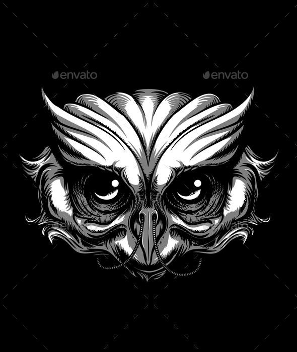GraphicRiver Owl Tattoo 11645208