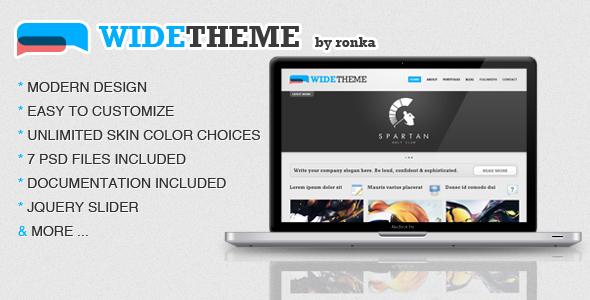 WIDETheme - Premium HTML&CSS Template