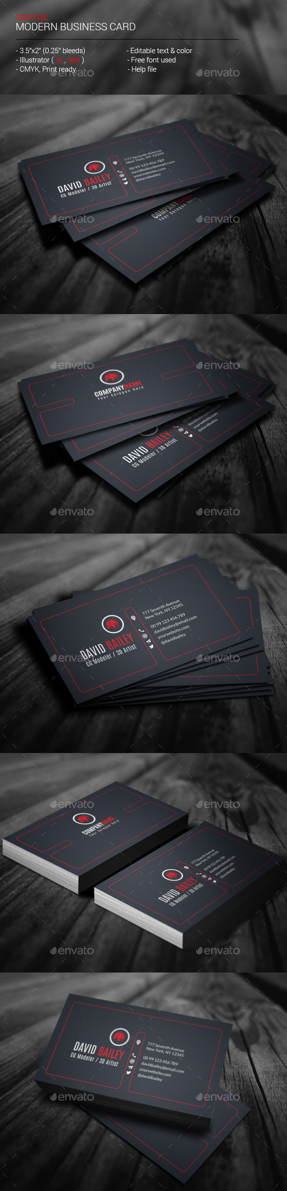 GraphicRiver Creative Modern Business Card 11645459