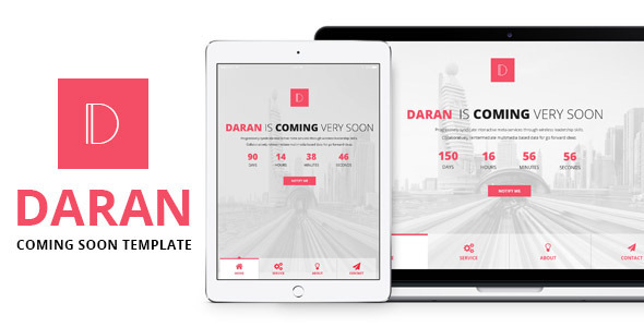 ThemeForest Daran Responsive Coming Soon Template 11645912