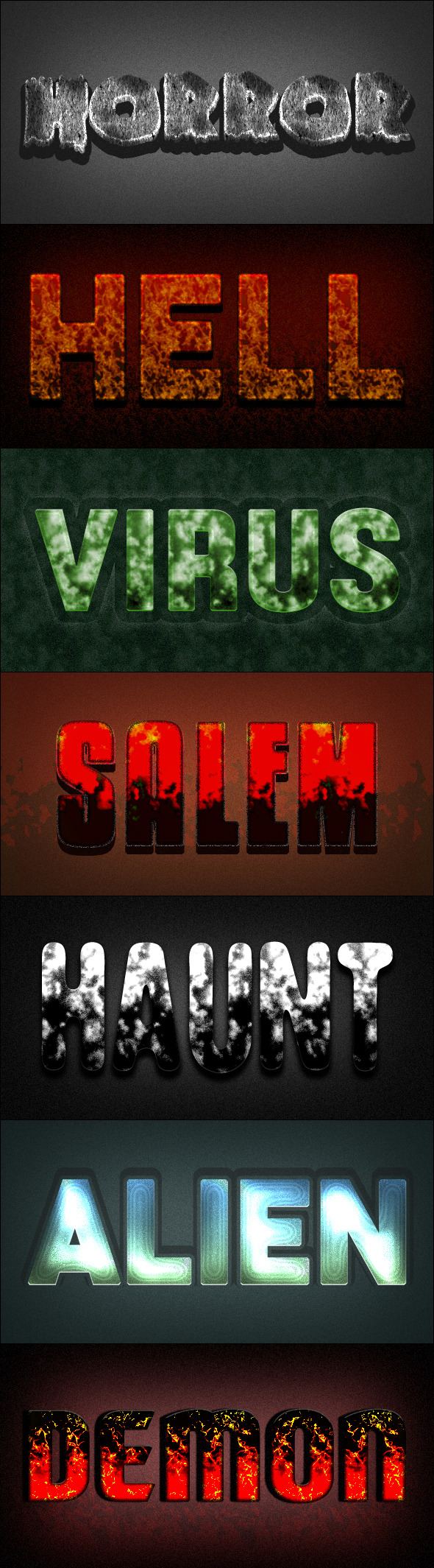 GraphicRiver Photoshop Text Styles Horror Vol.02 11645985