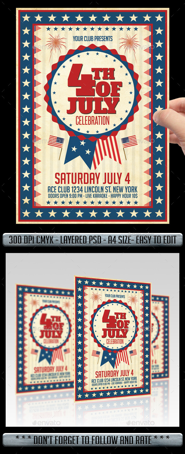 GraphicRiver Independence Day Flyer 11561107