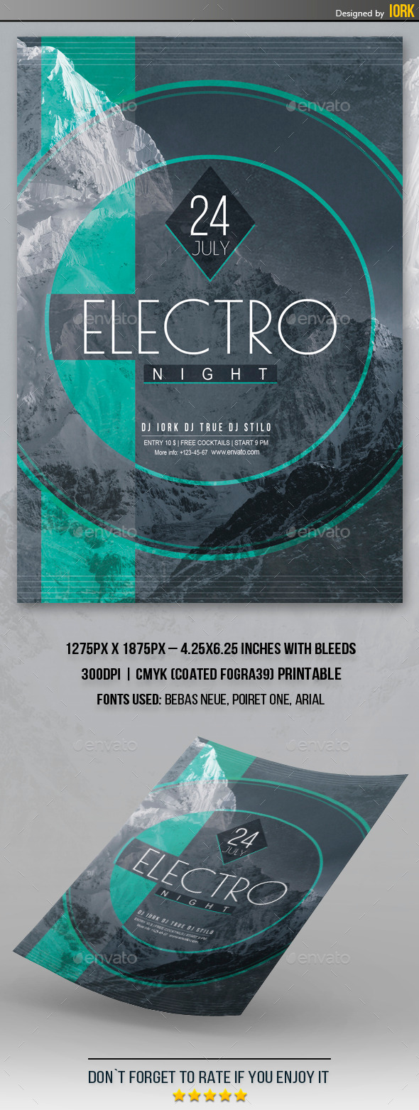 GraphicRiver Electro Night Flyer 11646218