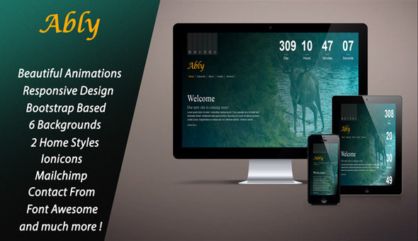 ThemeForest Ably Responsive Coming Soon Page 10560329