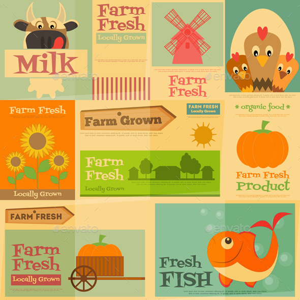 GraphicRiver Farm Posters 11646754