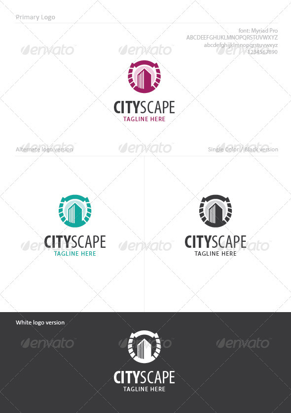 City Scape - Buildings Logo Templates