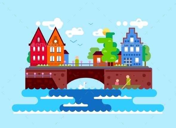 GraphicRiver Summer European Landscape 11647608