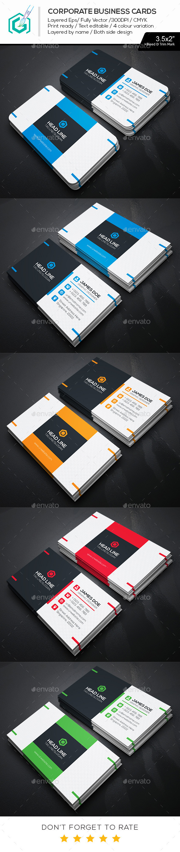 GraphicRiver Head Line Business Cards 11647636