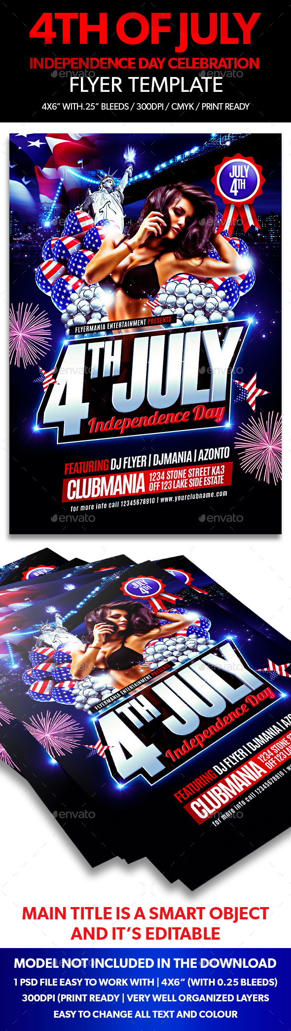 GraphicRiver Independence Day Celebration Flyer Template 11647920