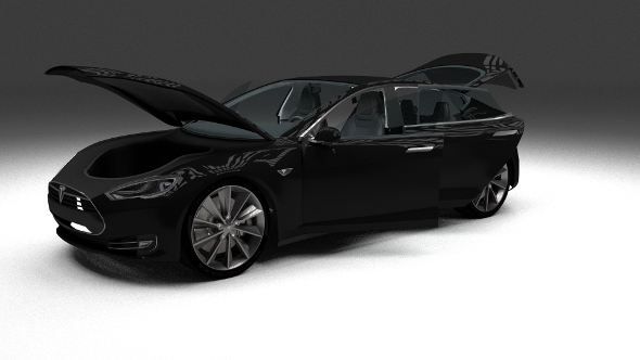 Tesla Model S with interior - 3DOcean Item for Sale